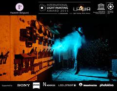 ILPA 2015 - 6th place (palateth) Tags: blue portrait orange lightpainting electric night belgium belgique belgie urbanexploration freeze flour blast urbex lightart