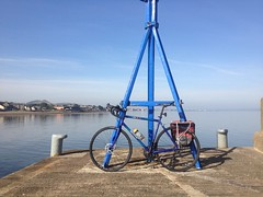 Musselburgh Harbour Cycle stop (billyrosendale) Tags: summer bike bicycle cycling scotland edinburgh harbour x biking planet latesummer musselburgh cramond harbourwall kaffenback musselburghharbour