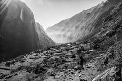 Langtang Trek (Rkitichai) Tags: nepal blackandwhite mountain nature trekking landscape valley himalaya sunrays lightbeam langtang travelphotography travelnutzmn