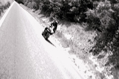 30 days - Day 10 (carl.burrow) Tags: white black out focus motorbike biker blury