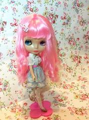 Blythe prima dolly violetina customizada