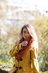 Deep Autum (Mark Brim) Tags: orange brown sun hot laura sexy girl leaves yellow outdoors leaf model warm shoot mckay photoshoot autum coat sunny cosey