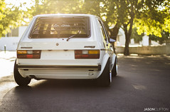 Mk1 Sunsets (Jason Clifton Photography) Tags: sunset rabbit classic beautiful vw golf southafrica haze photoshoot low capetown oldschool retro static rs bbs stance lowclass mk1 fitment bbsrs sourkrauts
