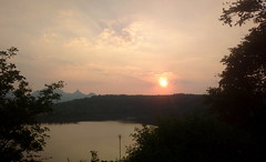 Sunset (solarisgirl) Tags: sunset water dam bhandardara