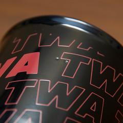 TWA Airline Red Letter Logo Black Ceramic Coffee Cup Mug 2 - 08 (kocojim) Tags: cup coffee vintage ceramic logo ebay mug airlines twa aerospace kocojim transworldairlines