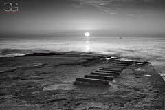 IMG_1752 BW (Charles Grixti) Tags: sky sun seascape water clouds sunrise canon seascapes malta canon6d