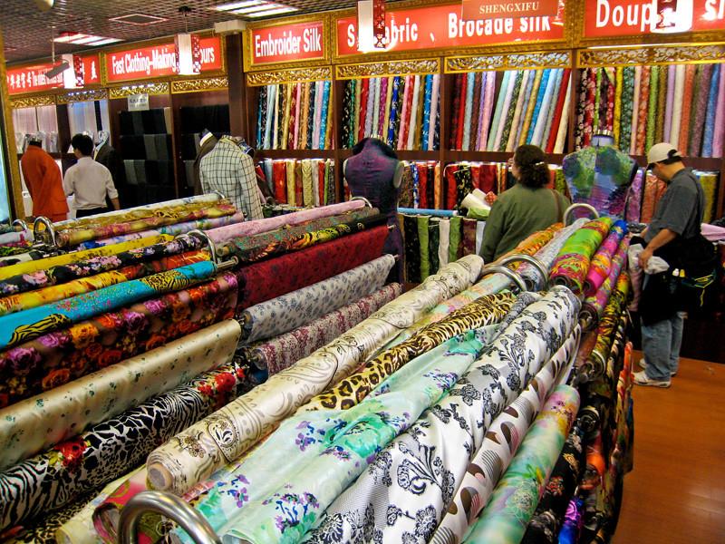 Hangzhou's famous silk