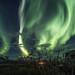 Pela aurora boreal