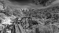 Abandoned Mine in MNP (joeqc) Tags: trestle blackandwhite white black abandoned blancoynegro monochrome canon mono mine mining forgotten mojave 6d ef1740f4l mnp greytones