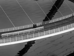 On the bridge (tubblesnap) Tags: bridge bw white black newcastle bay 5 north tyne millennium east adobe tynemouth cullercoats lightroom whitley