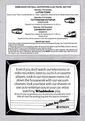 Wimbledon vs Liverpool - 1987 - Page 20 (The Sky Strikers) Tags: travel news liverpool ads one town crazy still working gang away lane products fans division wimbledon range tat plough hitachi league luton banned barclays of