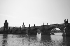 Charles Bridge (lukedrich_photography) Tags: bridge tower history water statue stone architecture canon river europa europe european arch czech prague transport culture praha praga tschechien historic czechrepublic charlesbridge oldtown bohemia vltava waterway rpubliquetchque ceskarepublika  centraleurope staremesto karlvmost  repblicacheca    repubblicaceca eskrepublika         t1i canont1i