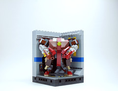 VLS C213o in Hangar 4 for Scale (Jay Biquadrate) Tags: lego diorama mecha mech moc microscale mfz mf0 mobileframezero
