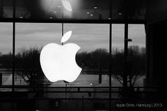 Apple Store, Hamburg (JeevesWilliams) Tags: travel white apple sign germany logo deutschland hamburg icon applestore german