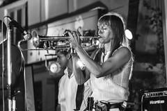Saskia Laroo - This Is How We Do (Anoop Negi) Tags: trumpet musician zeebop goa lady miles davis jazz performer artist bnw monochrome music photo photography anoop negi ezee123 saskialaroo portrait black white