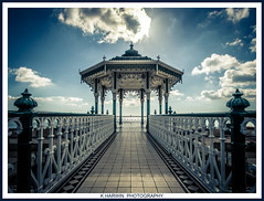 _i___/_\___i_ (Kevin HARWIN) Tags: bandstand sea water beach sand clouds sky blue white canon eos 70d brighton east sussex uk england coast