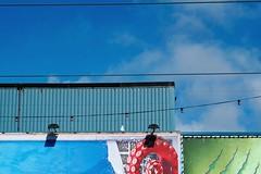 KLUK1245_S (Konrad Lembcke) Tags: uk street photography blackpool promenade sea coast facade funland amusements vacation colour architecture england minimal fuji europe wall decoration travel trip tour sightseeing voyage globetrott ing wanderlust