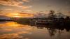 Bootje bij de Sluis (HoiteJouke.NL) Tags: schaphalsterzijl bootje schip reitdiep water zonsondergang