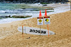 Warning Signs (milepost430media.com) Tags: hookipa park beach water ocean pacific waves ripples surf surfing surfer red danger warning sand caution current ripcurrent strong hawaii maui hana 70d dslr rescue board rocks paradise