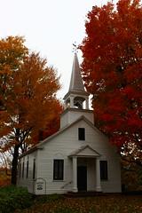 Abbotsford's United Church (pegase1972) Tags: qc qubec quebec canada montrgie monteregie church glise fall foliage autumn