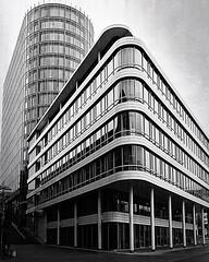 Business Building Stuttgart (humanphoto71) Tags: stadt street bademwürttemberg deutschland germany 1240pro em1 onmyway omdem1 olympus blackandwhite stuttgart instagramapp square squareformat