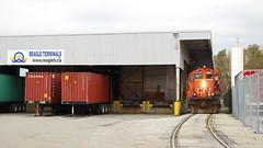CN 7016 ~ Richmond (Chris City) Tags: train railway railroad spur industry switching warehouse richmond cnr gp9
