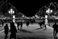 night square (marcobertarelli) Tags: night square padova pratodellavalle history place old bw black white shadows lights street monochrome life people