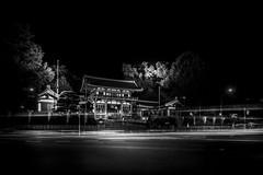 Yasaka Shrine - Gion Japan (Gerald Ow) Tags: bw black and white shrine gion japan kyoto sony a7rii a7rm2 fe 2470mm f28 gm geraldow ilce7rm2 long exposure night yasaka  yasakajinja shinto main gate g master