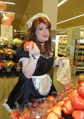 In your face, Snow White! (rgaines) Tags: costume cosplay crossplay drag frenchmaid halloween shopping