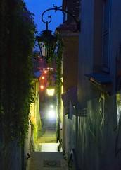 Lit Stairway (john atte kiln) Tags: warsaw poland warszawa polska masovian stairs steps stairway alley alleyway lit lighting streetlighting lamp ornate light lightatendoftunnel