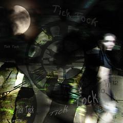 Chronomentrophobia - Tick Tock! (Lemon~art) Tags: ticktock treatthis kreativepeople clock chronomentrophobia fear woman moon shadows manipulation