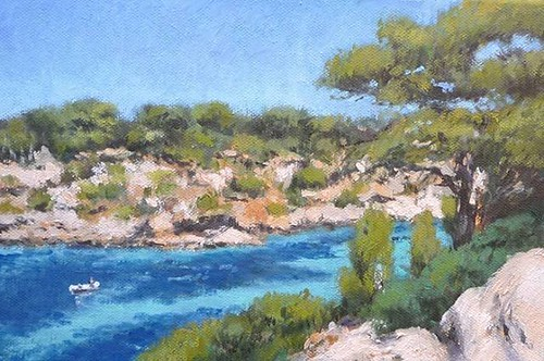 Cama Pi, Mallorca. Óleo sobre lienzo. 30x20 cms. #cuadros #oleos #arte #Mallorca #Baleares #pintura #paintings #landascapes #marinas #paisajes