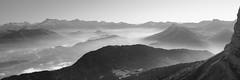 Brume sur le Trièves (yom1) Tags: automne autumn fall montagne montagnes mountin mountains bergs berg alpes alps alpen brume fog europe france rhonealpes isère vercors triève obiou devoluy grenoble noiretblanc noirblanc nb noir blanc blackandwhite blackwhite monochrome monochrom bw canon eos 450d eos450d rebel rebelxsi hiking rando randonnée walk walking nature pano panorama panoramic yom1