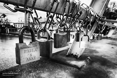 Paula and Akke (Javier A Bedrina) Tags: arts bridge chained closeup connection couple culture engagement eternity friendship hang heart key lock love lovepadlock married padlock river romance romantic security shape sign symbol togetherness tradition valentine wedding bedrina