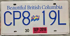 BRITISH COLUMBIA 2016 ---LICENSE PLATE, NEW NUMBERING SEQUENCE (woody1778a) Tags: 2016 britishcolumbia bc bchistory licenseplate numberplate registrationplate hobby mycollection myhobby canada alpca1778 collector collection