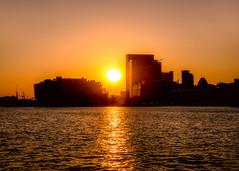 Inner Harbor Sunset (Daveyal_photostream) Tags: nikon nikor nature nightphotography nightshot dusk sky sunset sunsetting sunlight sun skyline skyscape waterscape reflection meandmygear mygearandme mycamerabag motion movement baltimore innerharbor maryland anawesomeshot
