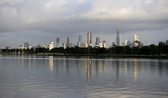 Albert Park Lake (bobarcpics) Tags: albertparklake melbourne skyline skyscrapers reflections cityskyline cityscape lake