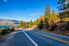 The Road ahead... (pchida) Tags: road travel sky blue clouds trees landscape light sun trip nikon photography photographer