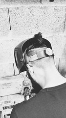 Le Cyclope (FR4GIL3) Tags: pentax k5 cyclope soudeur soudure mask masque wall mur france intérieur work travail lamainsale kustom custom usine industrielle indus industriel