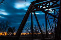 Abandoned Dusk Bridge (Wolf_UrbanXposure) Tags: sunset sunrise dusk dawn twilight sun clouds cloudporn cloudlovers skyscape cloudscape skypainters bridge abandonedbridge anandonedplaces abandon abandoned decay creepy abandonedworld abandonedearth urbanexploration urban urbec urbanexplorer longexposure longexposures longexpo slowshutter lazyshutter nightphotography nightscapes nightshot nightphoto nightimages nightcrawlers nightshooters night d7200 stl saintlouis crystalcity crystalcityundergroundbridge undergroundbridge jeffersoncounty missouri midwest landscape nature natureshot naturephotography longexposurephotography flickr flickraddicts bestshot
