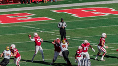 #17 Pass Attempt (Codydownhill) Tags: football game huskers big red sports portrait trophy brother dad