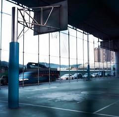 台65高架橋下 (li-penny) Tags: 120 tlr mediumformat minoltaautocord taipei taiwan film 6x6 xinzhuangdistrict 底片 台灣 新莊 新北市 籃球場