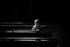 CATHEDRALE SAINT CAPRAIS D'AGEN (CEDREAMS) Tags: 2016 50mm agen aquitaine banc bench blackandwhite bw canon cathedral cathedrale cathedralesaintcaprais catholic catholique cedreams clairobscur colors couleurs europe flickr focalefixe france lotetgaronne noiretblanc objectif photographie photography portrait religion sightseeing sigmaart tourisme touristique travel trip voyage chiaroscuro f14