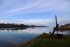 Brume sur la rivire Faou (Mike Cording) Tags: mist water cloud reflection river anchor harbour