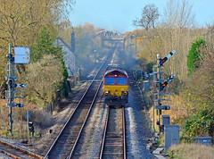 66126 at Gilberdyke (robmcrorie) Tags: 66126 gilberdyke hull coal terminal gypsum boxes train rail freight dbs class 66 nikon 200500 ed vr lens nikkor