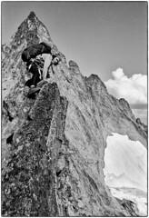 Ridge Running 1977 (Fogle Images) Tags: landscape alpineclimbing forbiddentotormenttraverse northcascades wa