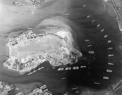 #An aerial photograph taken the year before the Japanese raid shows the East Loch and the the Fleet Air Base on Ford Island in Pearl Harbor. Visible are the carrier Yorktown, 10 battleships, 17 cruisers, two light cruisers, and more than 30 destroyers. [1 (Histolines) Tags: histolines history timeline retro vinatage an aerial photograph taken year before japanese raid shows east loch fleet air base ford island pearl harbor visible carrier yorktown 10 battleships 17 cruisers two light more than 30 destroyers 1180  922 vintage dh historyporn httpifttt2gpzaba