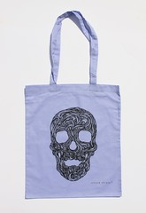 Swirly Skull Tote (violet) (Wayne Chisnall) Tags: pink blue red orange green yellow skulls skeleton grey screenprint violet lilac cotton bones forgetmenot bags tote shopper totes deathshead totebags shoppingbags tattoodesign screenprints artprints tattoodesigns sull deathhead screnprint cottonshoppingbags cottontotes artbags skulldesign violetbag cottonshoppingbag skulldesigns shopperbags skeletondesign artistsscreenprints colouredtotes skeletondesigns artistsbags greygreenlilac artshoppingbags violettote violettoteshopper violettotebag