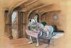 Peter Pan concept art, colored pencil and pastel (Tom Simpson) Tags: film illustration vintage design peterpan disney behindthescenes smee captainhook conceptart mrsmee