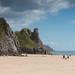 Oxwich bay cliffs
